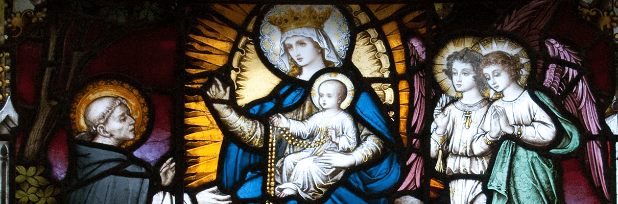 Our Lady giving the Rosary to St. Dominic. Carlow Cathedral CC